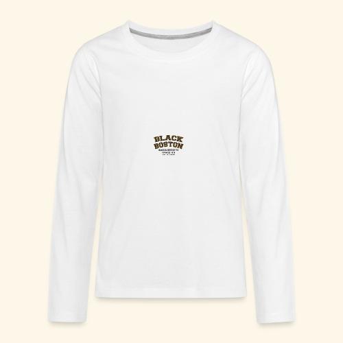 Boston Black Coffee Mug a Black Boston souvenir - Kids' Premium Long Sleeve T-Shirt