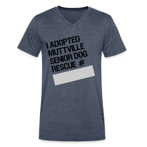 Muttville's #3000 Milestone Commemorative Tee - Men's V-Neck T-Shirt by Canvas