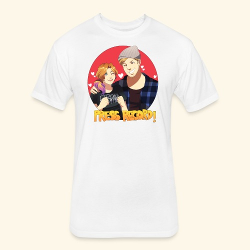 Men's 'Press Record In Love' Tee - Fitted Cotton/Poly T-Shirt by Next Level