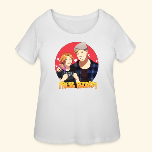 Men's 'Press Record In Love' Tee - Women's Curvy T-Shirt