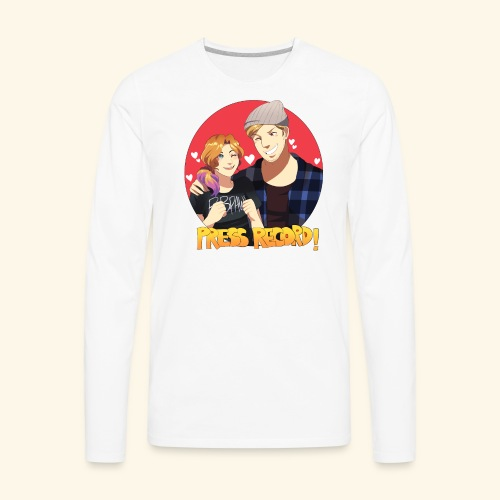 Men's 'Press Record In Love' Tee - Men's Premium Long Sleeve T-Shirt