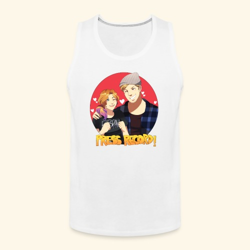 Men's 'Press Record In Love' Tee - Men's Premium Tank