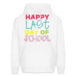 (Double Sided) Happy Last Day - Peace, Love, Summer Break - Men's Hoodie