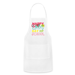 (Double Sided) Happy Last Day - Peace, Love, Summer Break - Adjustable Apron