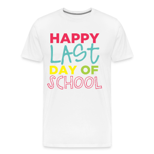(Double Sided) Happy Last Day - Peace, Love, Summer Break - Men's Premium T-Shirt