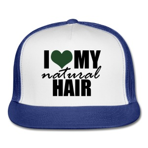 I Love My Natural Hair Black Tank - Trucker Cap