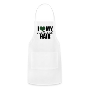 I Love My Natural Hair Black Tank - Adjustable Apron