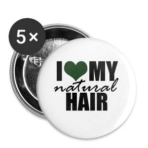 I Love My Natural Hair Black Tank - Small Buttons