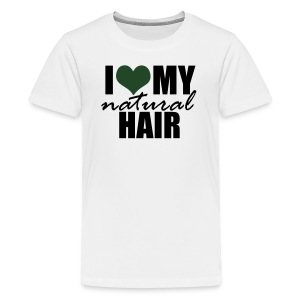 I Love My Natural Hair Black Tank - Kids' Premium T-Shirt