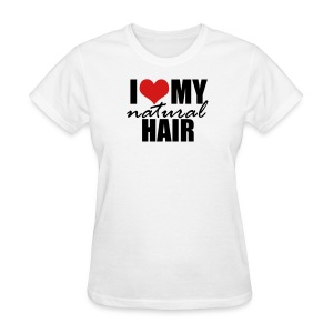 I Love My Natural Hair Black Tank - Women's T-Shirt