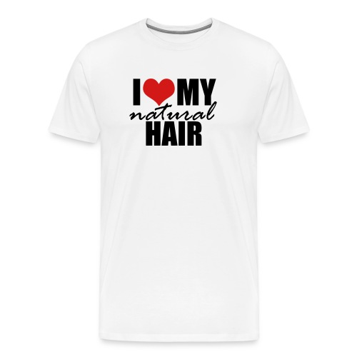 I Love My Natural Hair Black Tank - Men's Premium T-Shirt