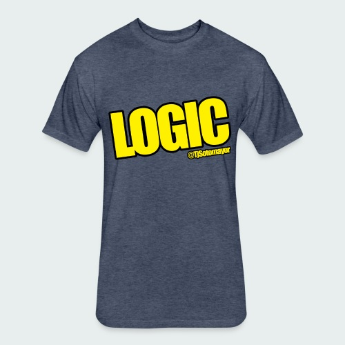 Mens Logic Shirt- PLUS SIZE TEE UP TO 5X - Fitted Cotton/Poly T-Shirt by Next Level