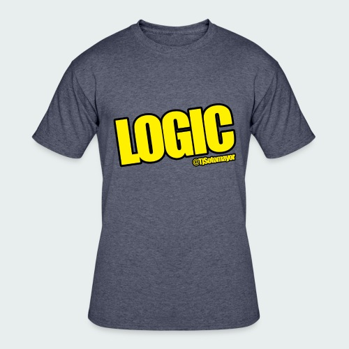 Mens Logic Shirt- PLUS SIZE TEE UP TO 5X - Men's 50/50 T-Shirt