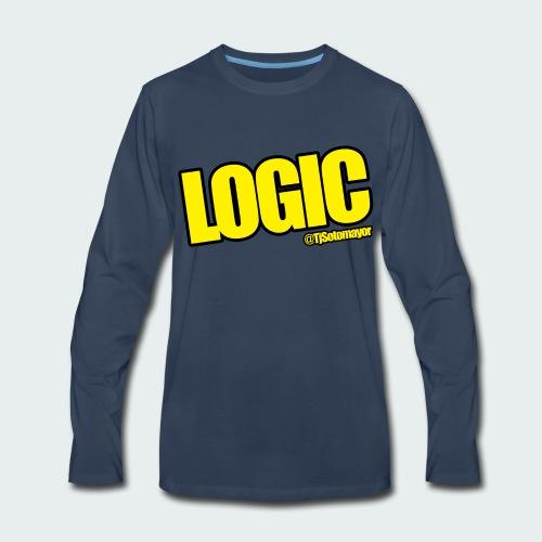 Mens Logic Shirt- PLUS SIZE TEE UP TO 5X - Men's Premium Long Sleeve T-Shirt