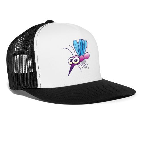 Cute Purple Mosquito Long Sleeve Shirts - Trucker Cap