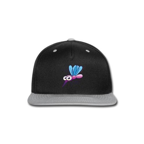 Cute Purple Mosquito Long Sleeve Shirts - Snap-back Baseball Cap