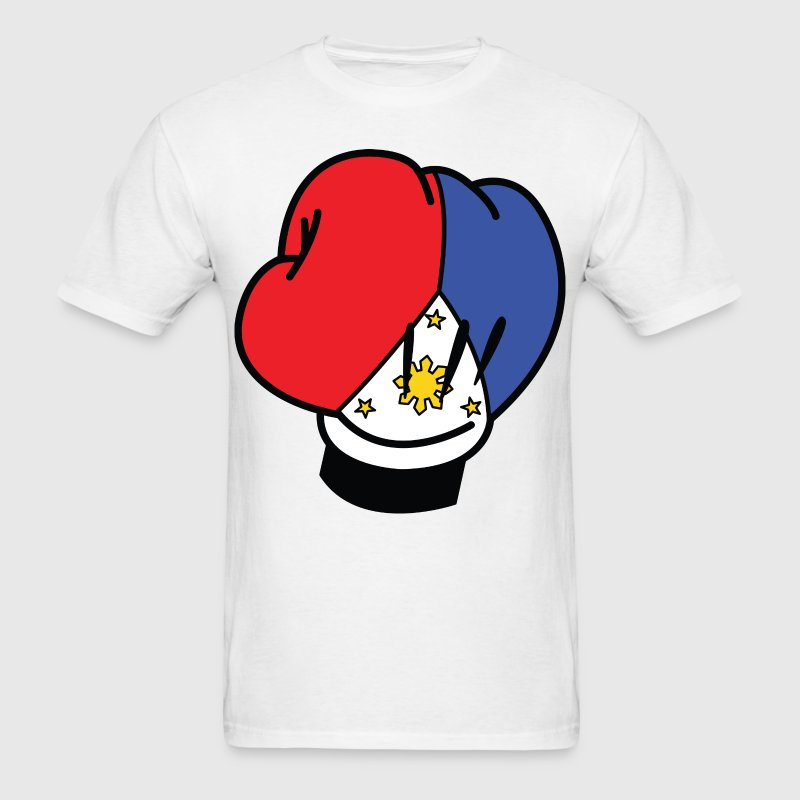 MP Filipino Flag Boxing Glove by AiReal Apparel T-Shirts - Men's T-Shirt