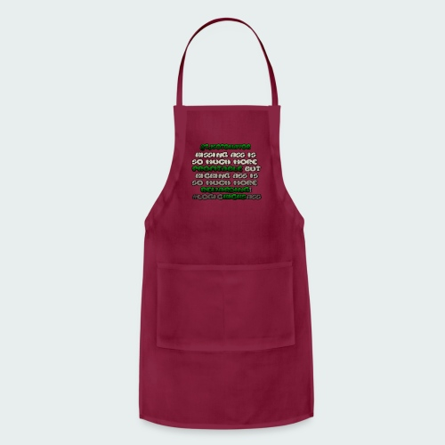 KISSING ASS IS ..... - Adjustable Apron
