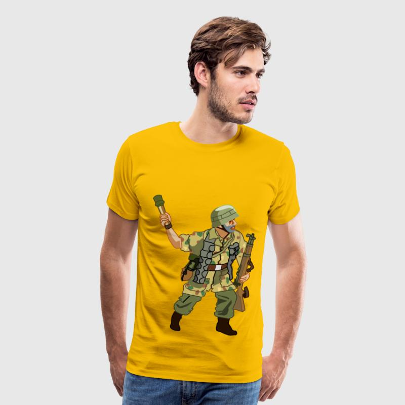 German Fallschirmjager of WW2 - Men's Premium T-Shirt