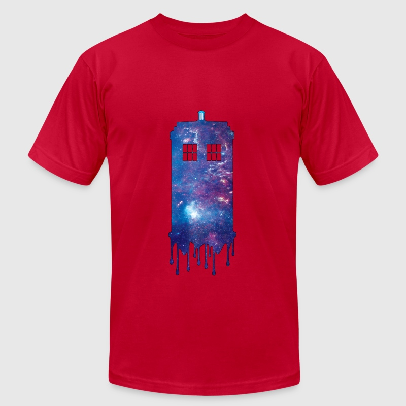 Galaxy Tardis - Men's T-Shirt by American Apparel