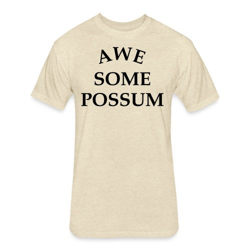Awesome Possum - Fitted Cotton/Poly T-Shirt by Next Level