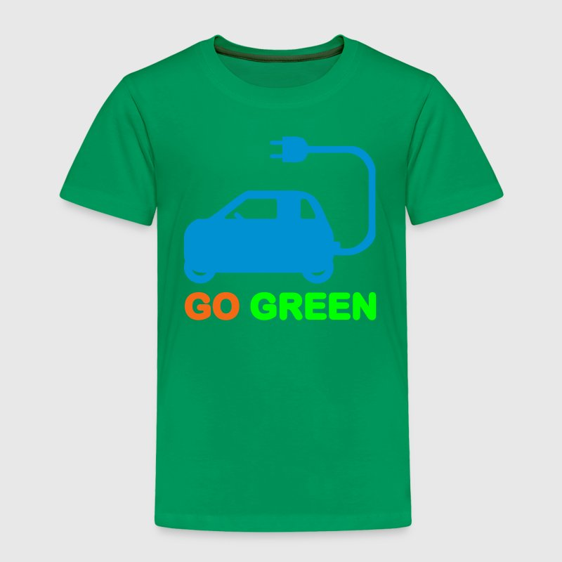 GO GREEN ~ DRIVE ELECTRIC VEHICLES Baby & Toddler  - Toddler Premium T-Shirt
