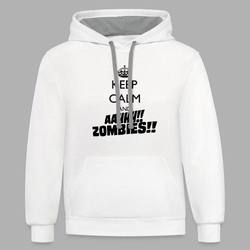 Keep Calm Zombies - Contrast Hoodie