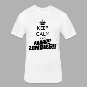 Keep Calm Zombies - Fitted Cotton/Poly T-Shirt by Next Level