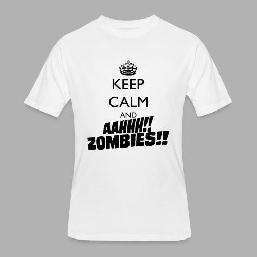 Keep Calm Zombies - Men's 50/50 T-Shirt