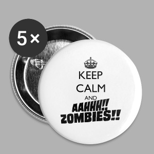 Keep Calm Zombies - Small Buttons