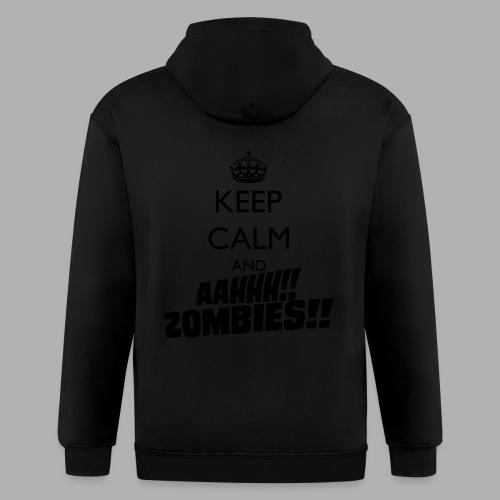 Keep Calm Zombies - Men's Zip Hoodie