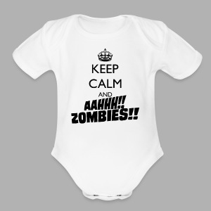 Keep Calm Zombies - Short Sleeve Baby Bodysuit