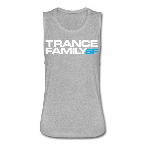Women's Premium T-Shirt (white font) - Women's Flowy Muscle Tank by Bella