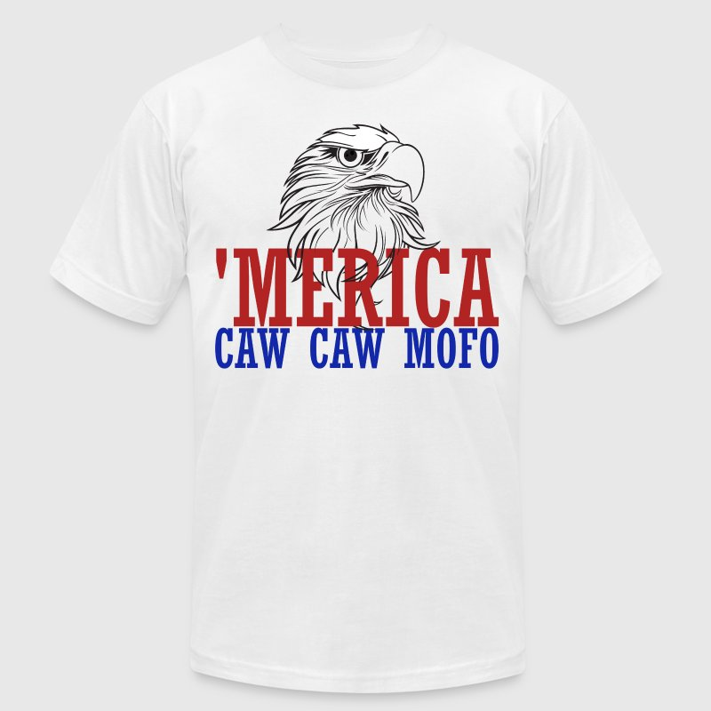 'merica caw caw eagle for 4th of july - Men's T-Shirt by American Apparel