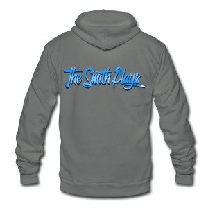 TheSmithPlays Classic Blue - Unisex Fleece Zip Hoodie by American Apparel
