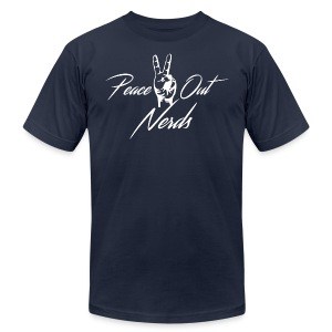 Peace Out Nerds White Text - Men's Fine Jersey T-Shirt