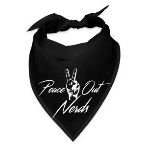 Peace Out Nerds White Text - Bandana