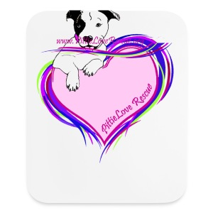PittieLove Rescue Logo - Mouse pad Vertical