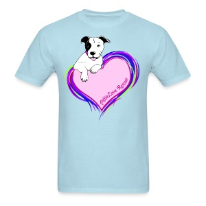 PittieLove Rescue Logo - Men's T-Shirt
