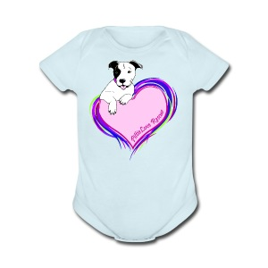 PittieLove Rescue Logo - Short Sleeve Baby Bodysuit