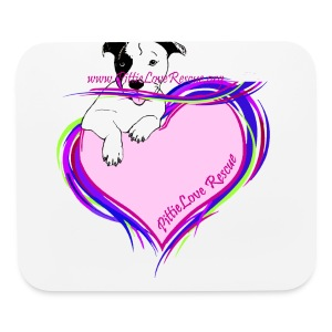 PittieLove Rescue Logo - Mouse pad Horizontal