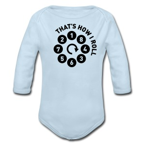 Rolling the V8 way - Long Sleeve Baby Bodysuit