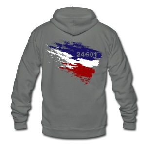 Les Miserables 24601 v3 T-Shirts - Unisex Fleece Zip Hoodie by American Apparel