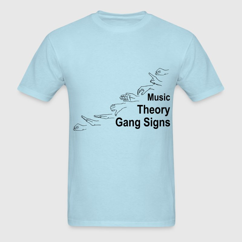Music Theory Gang Signs (black) T-Shirts - Men's T-Shirt