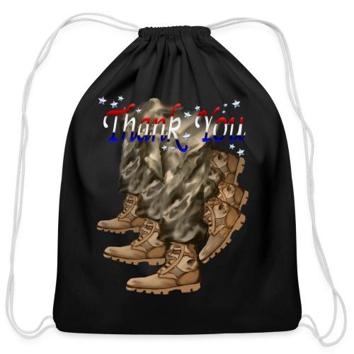 Thank You Veterans Boots - Cotton Drawstring Bag