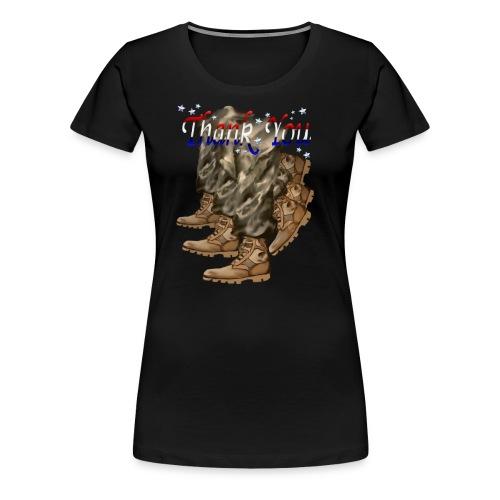 Thank You Veterans Boots - Women's Premium T-Shirt