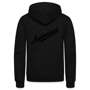 Autonaut script - Unisex Fleece Zip Hoodie by American Apparel