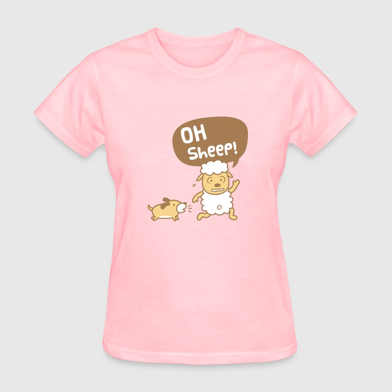 Cute Oh Sheep Pun Humor Women's T-Shirts - Women's T-Shirt