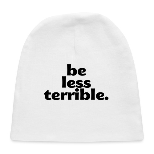Be Less Terrible Large Buttons (5-pack) - Baby Cap