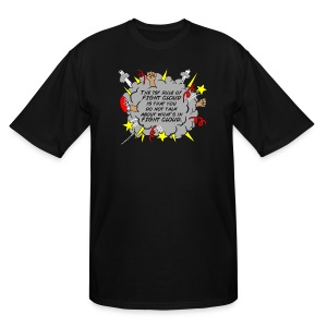 The Rules of Fight Cloud - Men's Tall T-Shirt